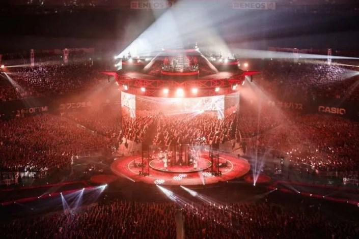 Le concert au Tokyo Dome était gigantesque.