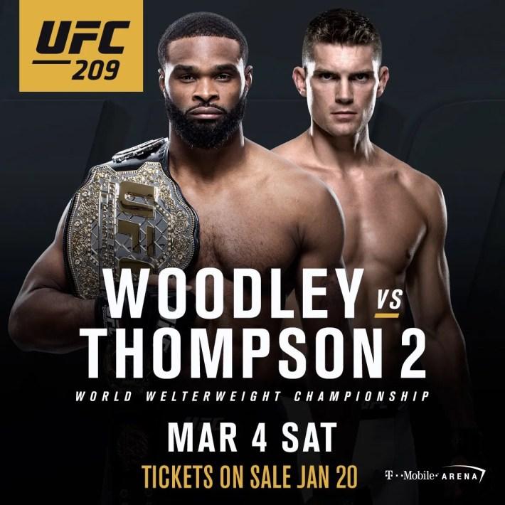 UFC 209: Woodley vs Thompson 2