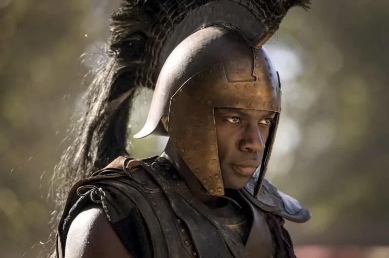 David Gyasi joue le rôle du héros grec Achille