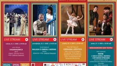 Photo of Predstave Narodnog pozorišta Sarajevo na YouTube kanalu