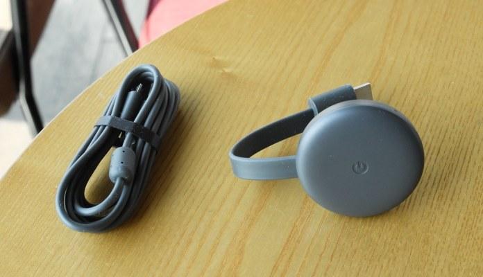 Chromecast on table