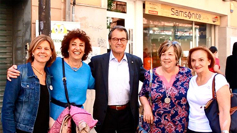Artur Mas visita Sant Cugat per donar suport a l'alcaldessa Carmela Fortuny