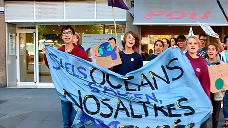 """""""Fridays For Future Sant Cugat"""" lluita cada divendres contra el canvi climàtic"""