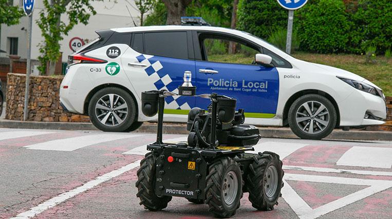 Sant Cugat adquireix un robot de patrullatge per millorar la seguretat i prevenir els robatoris