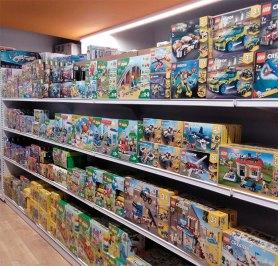 L'oferta de producte es distribueix segons les diferents categories de jocs i joguines