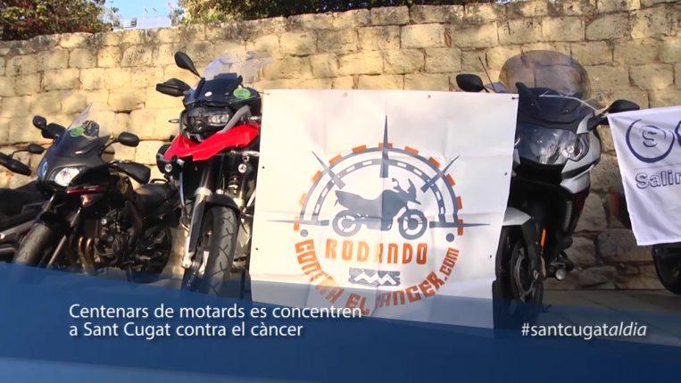 Centenars de motards es concentren a Sant Cugat contra el càncer