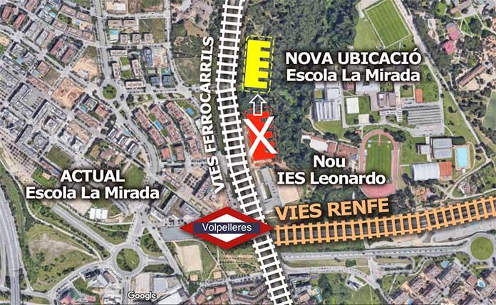 Un informe desfavorable de l'OTAA fa perillar la ubicació de l'escola La Mirada