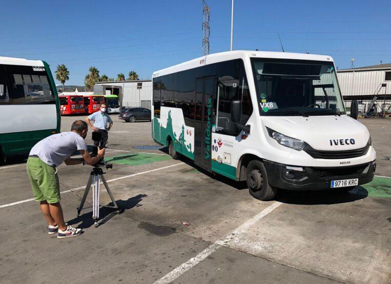 Espot Publicitat Campanya publicitària Autobús Valldoreix Soler i Sauret Leanor París productes de desinfecció aerosol anticovid