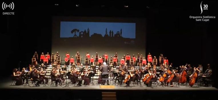 Concert rodó per celebrar els 30 anys de l'Orquestra Simfònica Sant Cugat
