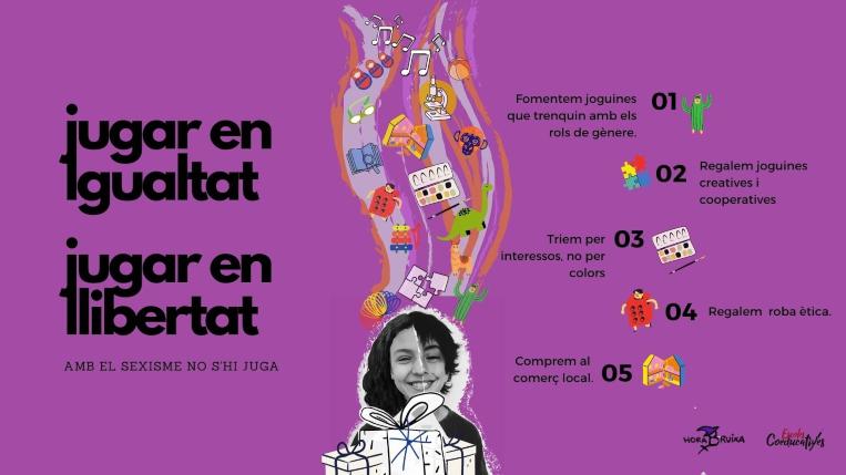 """Hora Bruixa i Escoles Coeducatives impulsen la campanya """"Jugar en igualtat, jugar en llibertat"""""""