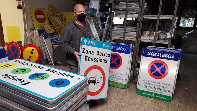 Aquest dissabte entra en vigor la Zona de Baixes Emissions de Sant Cugat