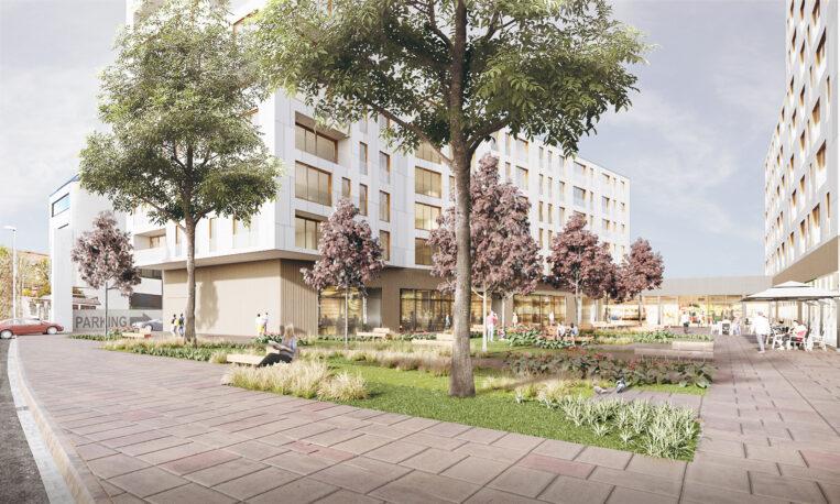 Un nou complex d'habitatges protegits i espai comercial al barri del Monestir-Sant Francesc