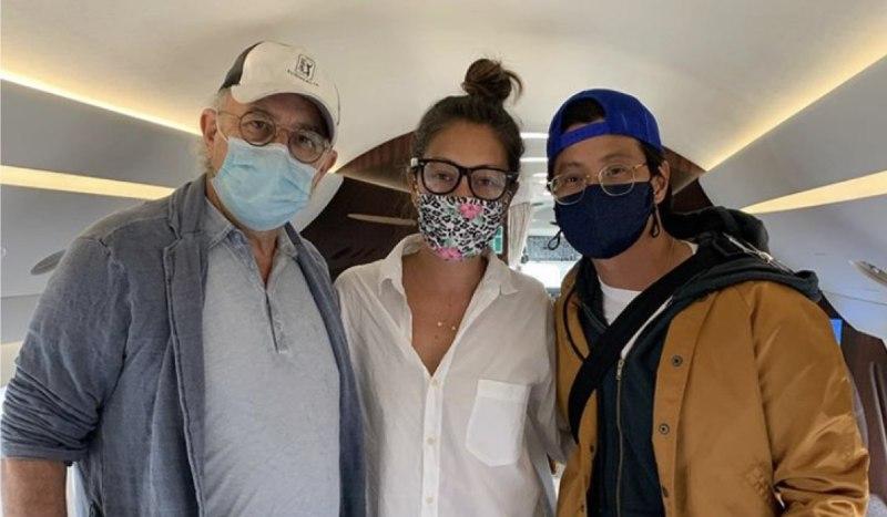 Da sinistra: Richard Schiff, Christina Chang e Will Yun Lee. Credits @thechristinachang_ su Instagram