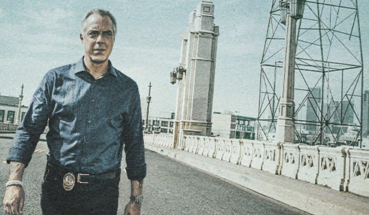 Titus Welliver nei panni di Bosch nel poster della quinta stagione. Credits Amazon Prime Video