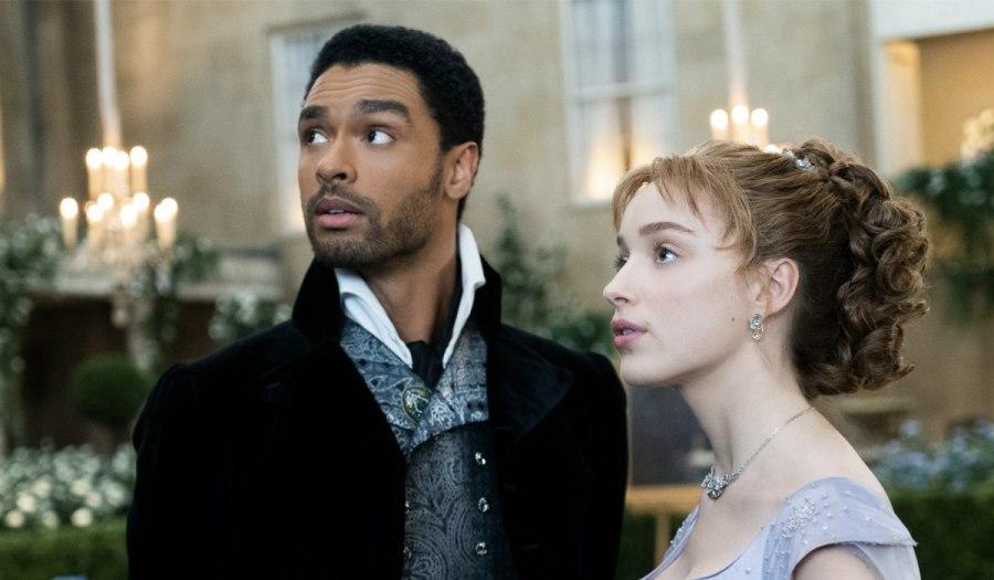 Da sinistra: Simon Basset (Regé-Jean Page) e Daphne Bridgerton (Phoebe Dynevor). Credits: Liam Daniel/Netflix.