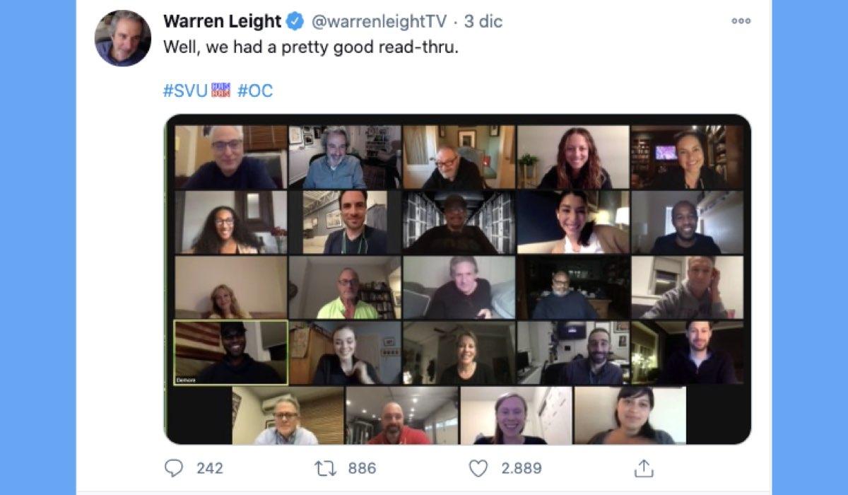 Lettura del copione di Law & Order 22 pubblicata su Twitter da Warren Leight