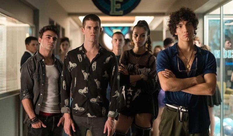 Il cast in una scena della serie TV Élite. Credits: Netflix.