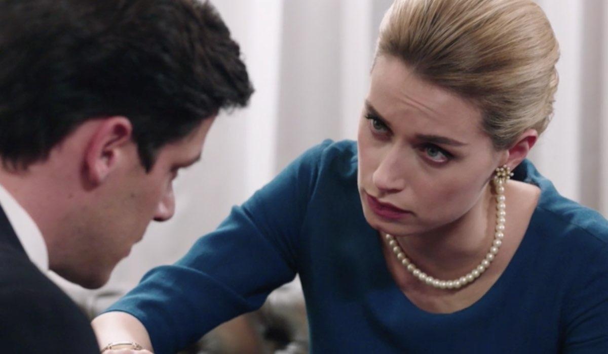 Il Paradiso Delle Signore 5, puntata 147: Cosimo Bergamini interpretato da Alessandro Cosentini e Ludovica Brancia Di Montalto interpretata da Giulia Arena. Credits: Rai