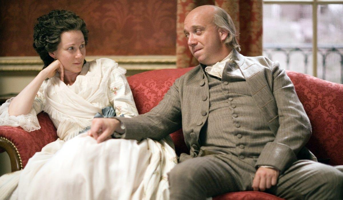 Paul Giamatti (John) e Laura Linney (Abigail) In John Adams Credits: Sky Italia