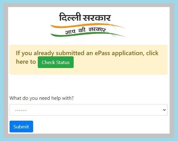 Delhi E-Pass, Curfew pass, Movement Pass, Lockdown Pass, registration, Status Check Online