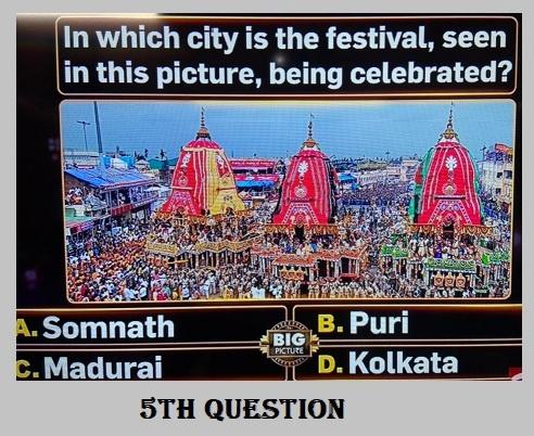 5th Question for Big Picture Quiz, Registration online