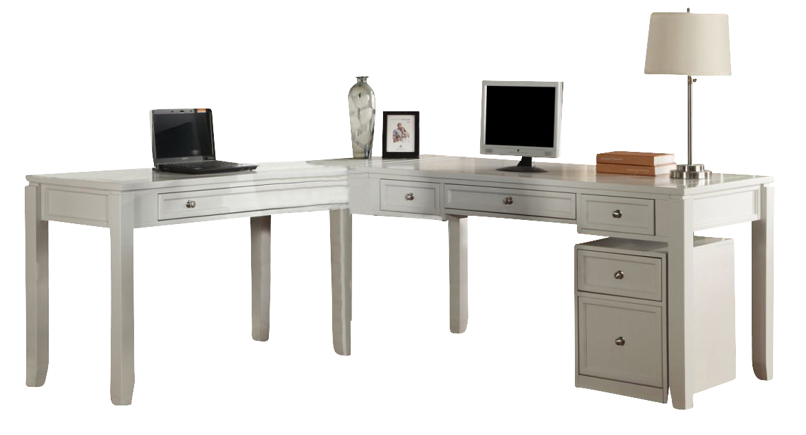 Parker House Boca 4 Piece L Shaped Modular Office Desk In