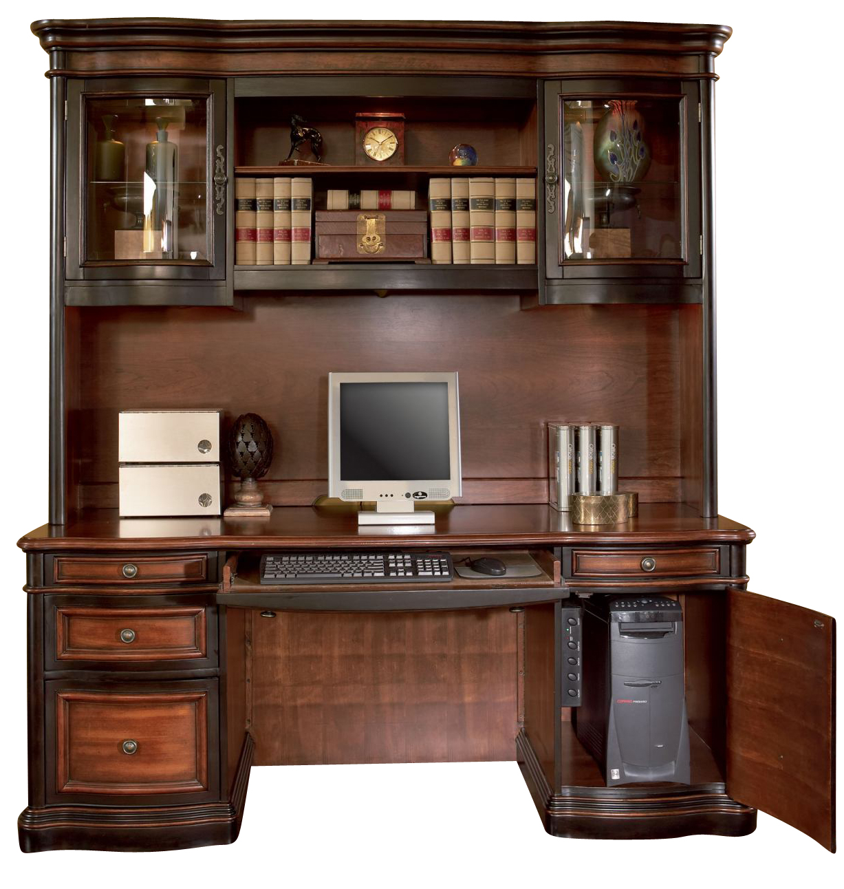 Coaster Gorman Home Office Credenza And Hutch In Two Tone