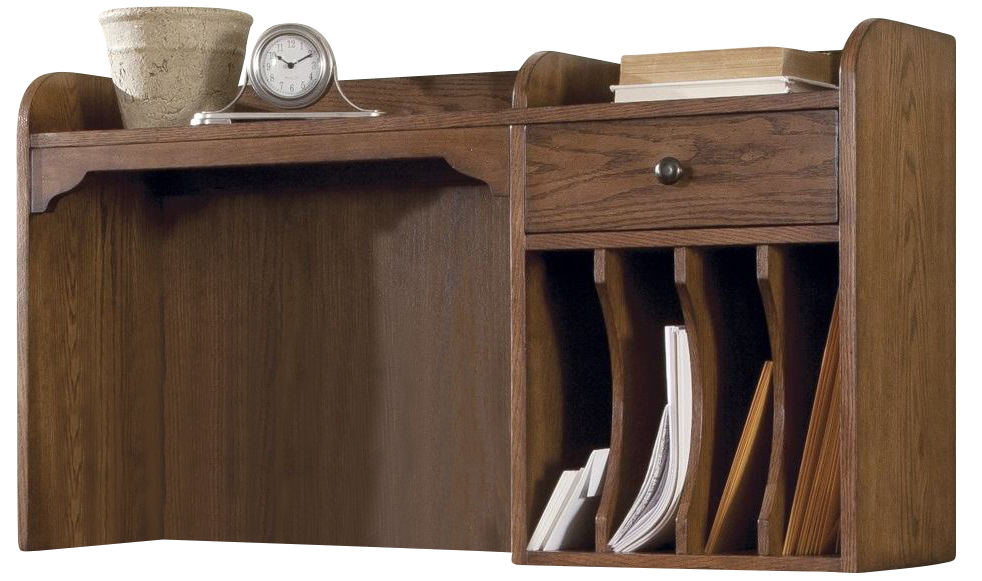 Liberty Hearthstone Desk Hutch In Rustic Oak 382 HO140