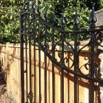 Metal gate repainted by Robert