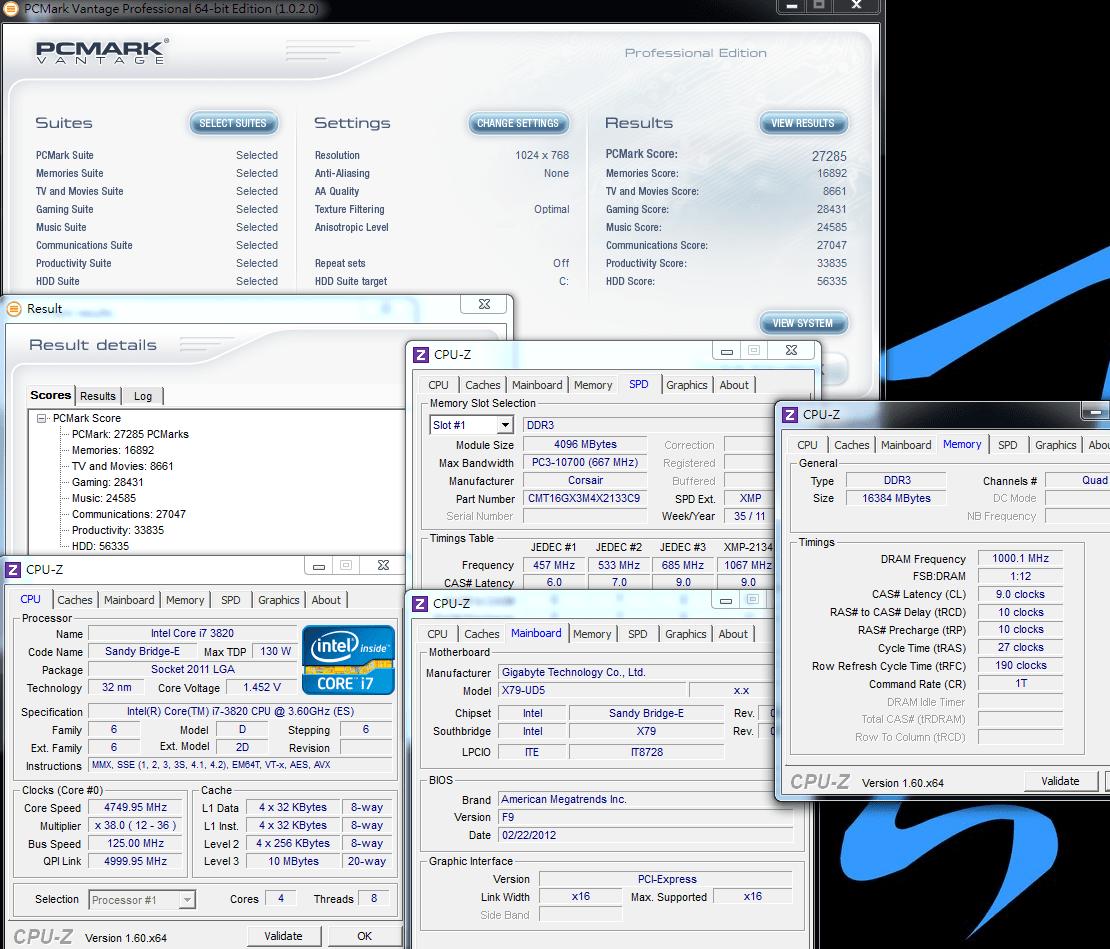 Intel LGA 2011平臺新款CPU - Core i7-3820超頻實測分享 - twCarPC