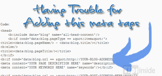 Add meta tag in every post blogger