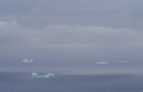 Icebergs in mirage by Christopher James Harris.