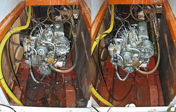 Engine before and after by .
