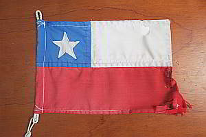 Our battered Chilean courtesy flag, now retired