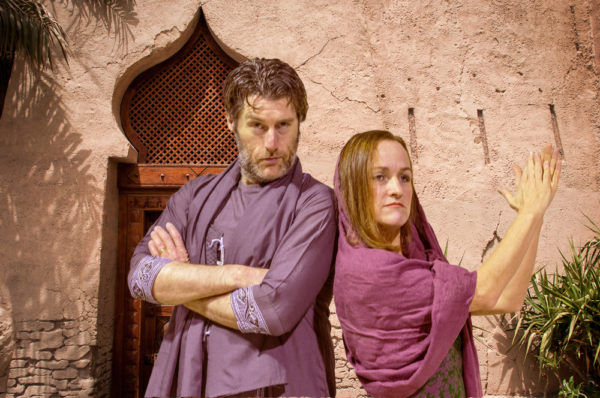 Craig Griffin as Cassim and Natascha Wolff as Sharon