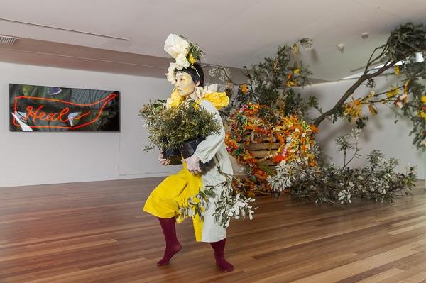 Hiromi Tango's work 'Banksia Magic' at Contour 556 Public Art Festival, Canberra 2016. Photo credit: Sean Davey