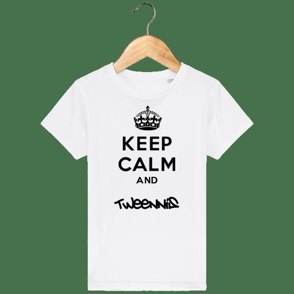 T-Shirt Keep Calm Enfant - white_face