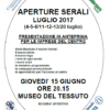 Prato. Aperture serali luglio 2017