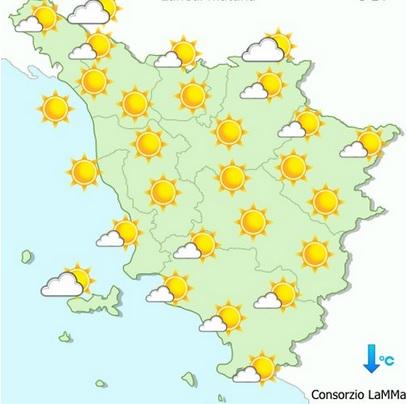 Meteo, Toscana: previsioni fino al 28 giugno fornite dal Lamma. Caldo con temperature di 34 – 35 gradi