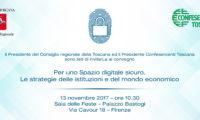 Per uno spazio digitale sicuro. Le strategie delle istituzioni e del mondo economico. L'iniziativa di lunedì 13 novembre a Firenze