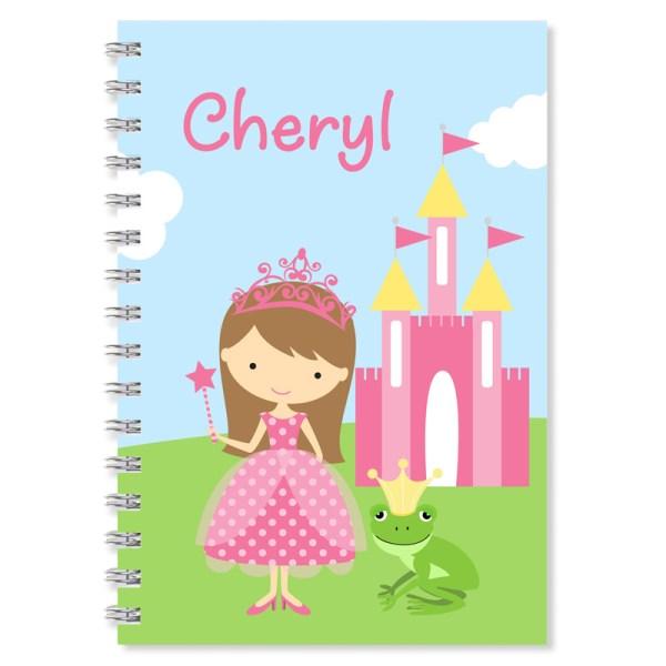 Princess Personalized Notebook Girls