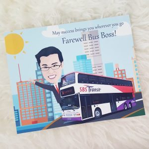 Personalized Farewell Gift for Boss / Colleague | Caricature Singapore
