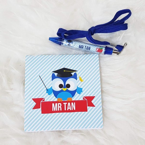 Teachers Day Singapore | Personalized Gift - Notepad & Pen