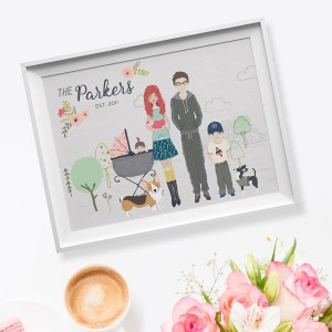 Personalised Portrait Illustration Singapore | Family Potrait