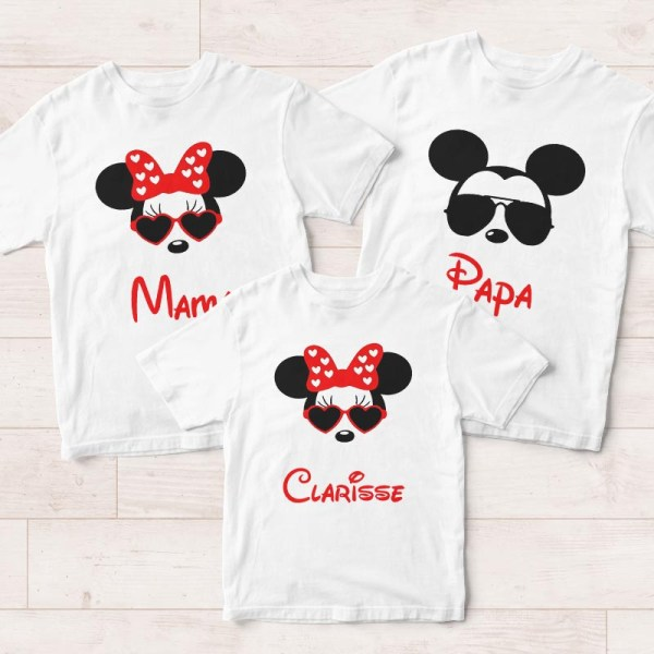 Personalised Family Tees Singapore - Mickey Minnie T Shirts