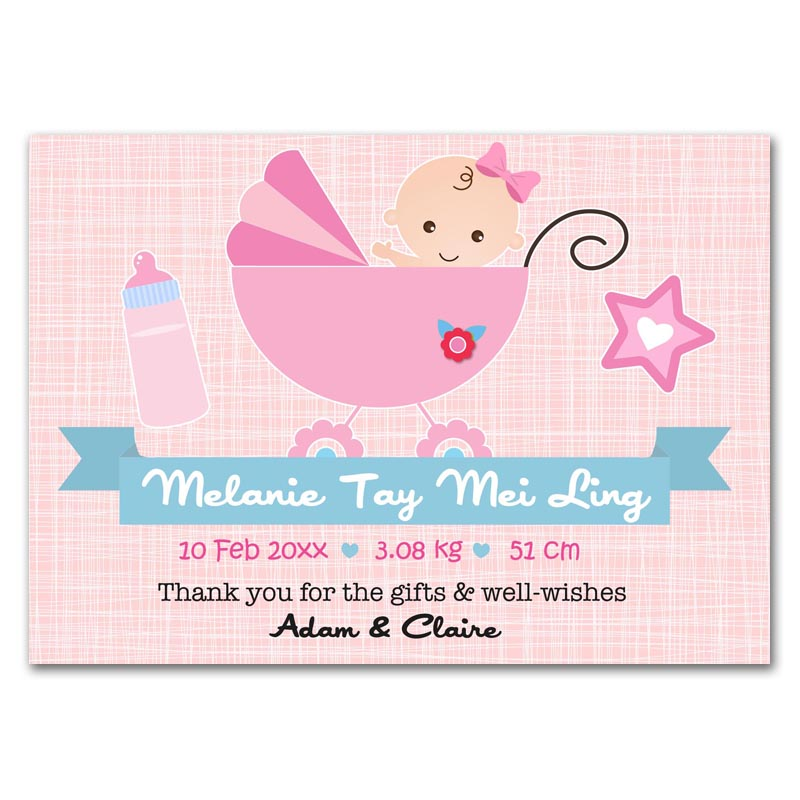 Baby Announcement Cards Singapore