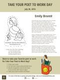 Take Your Poet to Work Day Printable - Emily Brontë