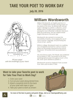 Take Your Poet to Work Day Printable William Wordsworth