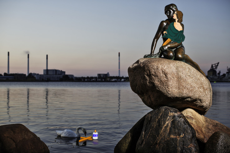 Emily Bronte in Copenhagen with mermaid