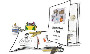Take Your Poet to Work Day Coloring Book Cover